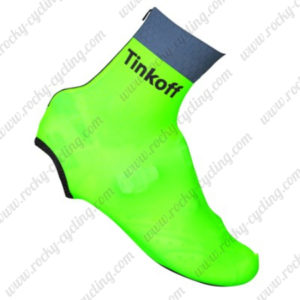 2016 Team Tinkoff Cycling Shoes Cover Fluo Green