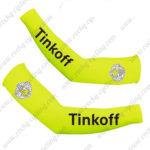 2016 Team Tinkoff Racing Arm Warmers Sleeves Fluo Yellow
