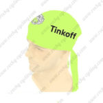 2016 Team Tinkoff Riding Bandana Head Scarf Light Green