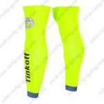 2016 Team Tinkoff Riding Leg Warmers Sleeves Fluo Yellow