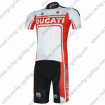 2017 DUCATI CORSE Cycling Team Kit White Red