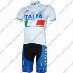 2017 ITALIA Castelli Riding Kit White Blue