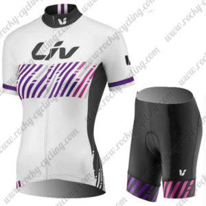 2017 Liv Womens Biking Kit White Purple