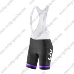 2017 Liv Womens Cycle Bib Shorts Bottoms Black Purple