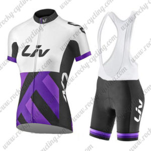 2017 Liv Womens Cycling Bib Kit White Purple Black