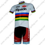 2017 Team Alpecin KATUSHA UCI Champion Cycling Kit White Rainbow