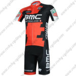 2017 Team BMC Cycling Kit Red Black