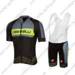 2017 Team Castelli Cycle Bib Kit Grey Yellow Black