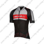 2017 Team Castelli Cycle Jersey Maillot Shirt Grey Red Black