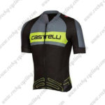 2017 Team Castelli Cycle Jersey Maillot Shirt Grey Yellow Black