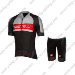 2017 Team Castelli Cycle Kit Grey Red Black