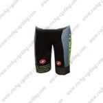 2017 Team Castelli Cycle Shorts Bottoms Grey Yellow Black