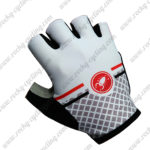 2017 Team Castelli Riding Gloves Mitts White Grey