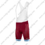 2017 Team KATUSHA Riding Bib Shorts Bottoms Red