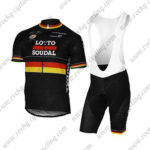 2017 Team LOTTO SOUDAL Germany Cycling Bib Kit Black