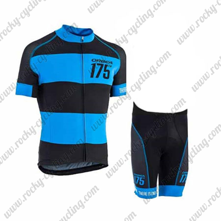 ... Riding Jersey and Padded Shorts Black Blue. 2017 Team ORBEA 175 Bicycle  Kit Black Blue 08df2b48b