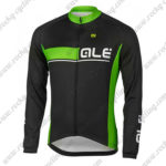 2017 Team QLE Cycling Long Jersey Maillot Black Green