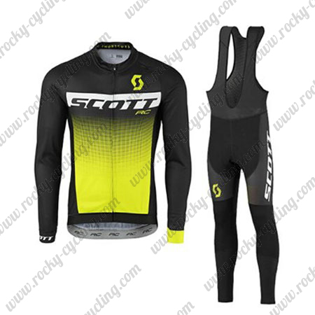 2017 Team SCOTT Cycle Clothing Riding Long Jersey and Padded Bib ... 1dee42f0a