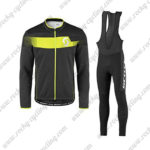 2017 Team SCOTT Cycling Long Bib Suit Black Yellow