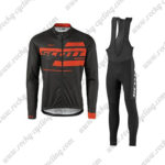 2017 Team SCOTT Riding Long Bib Suit Black Red