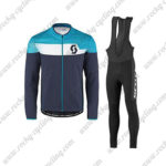 2017 Team SCOTT Riding Long Bib Suit Dark Blue