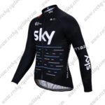 2017 Team SKY Castelli Cycling Long Sleeves Jersey Maillot Black