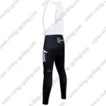 2017 Team SKY Castelli Riding Long Bib Pants Tights Black