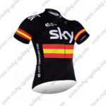2017 Team SKY RAPHA Spain Biking Jersey Maillot Shirt Black