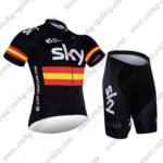 2017 Team SKY RAPHA Spain Cycling Kit Black