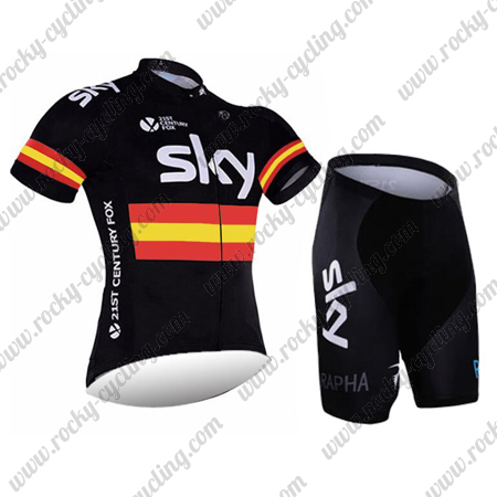 2016 Team SKY Rapha Spain Cycle Apparel Riding Jersey and Padded ... 112498c7b