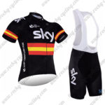 2017 Team SKY RAPHA Spain Riding Bib Kit Black