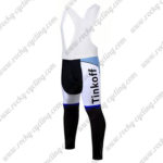 2017 Team Tinkoff Cycle Long Bib Pants Tights Blue