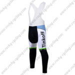 2017 Team Tinkoff Cycle Long Bib Pants Tights Green