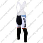2017 Team Tinkoff Cycle Long Bib Pants Tights Red