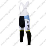 2017 Team Tinkoff Cycle Long Bib Pants Tights Yellow