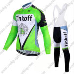 2017 Team Tinkoff Cycle Long Bib Suit Green