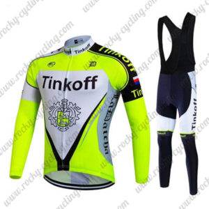 2017 Team Tinkoff Cycle Long Bib Suit Yellow