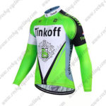 2017 Team Tinkoff Cycle Long Jersey Maillot Green