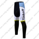 2017 Team Tinkoff Cycle Long Pants Tights Yellow