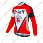 2017 Team Tinkoff Cycling Long Jersey Maillot Red White