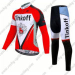 2017 Team Tinkoff Cycling Long Suit Red White