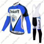 2017 Team Tinkoff Riding Long Bib Suit Blue