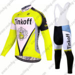 2017 Team Tinkoff Riding Long Bib Suit Yellow