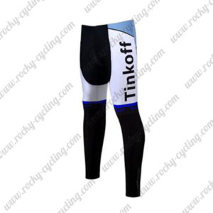 2017 Team Tinkoff Riding Long Pants Tights Blue
