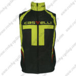 2012 Team Castelli Cycle Vest Sleeveless Waistcoat Rain-proof Windbreak Black Yellow