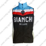 2013 Team BIANCHI MILANO Cycling Vest Sleeveless Waistcoat Rain-proof Windbreak Black