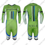 2013 Team Cannondale Long Sleeves Triathlon Cycling Outfit Skinsuit Green