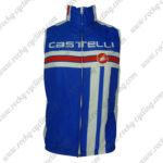 2013 Team Castelli Cycling Vest Sleeveless Waistcoat Rain-proof Windbreak Blue