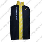 2014 Team PINARELLO Cycling Vest Sleeveless Waistcoat Rain-proof Windbreak Black Yellow