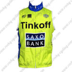 2015 Team Tinkoff SAXO BANK Cycle Vest Sleeveless Waistcoat Rain-proof Windbreak Yellow